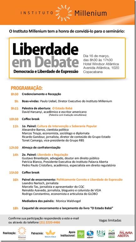Seminario Liberdade em Debate (16-03-11)