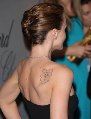 Christina Ricci Tattoo, clean tattoo