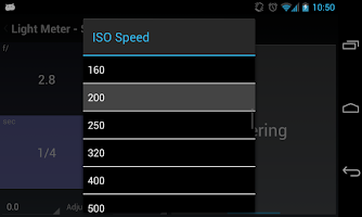 Screenshot of Light Meter Tools