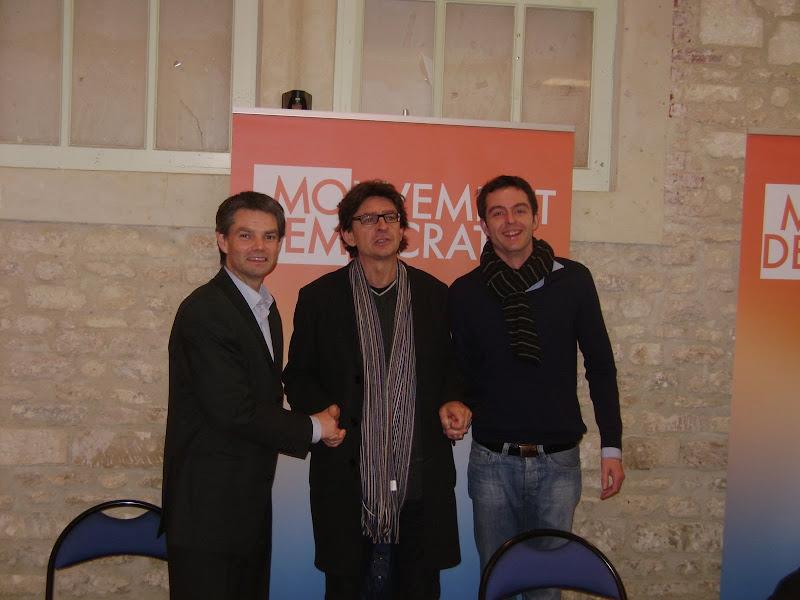 Rodolphe Thomas, Jean-Luc Touly et Franck Faveur