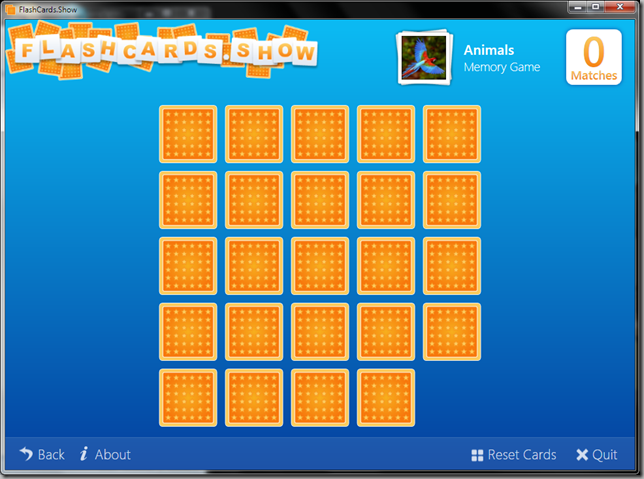 FlashCards.Show Memory Game Screenshot