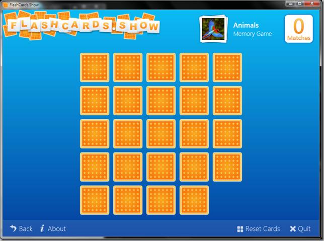 FlashCards.Show Memory Game Screenshot