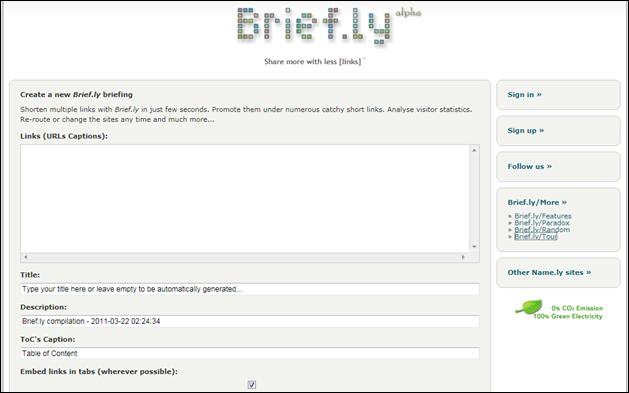 brief.ly site screenshot