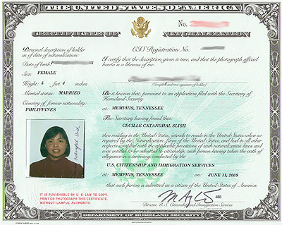 Naturalization Certificate Number On Passport
