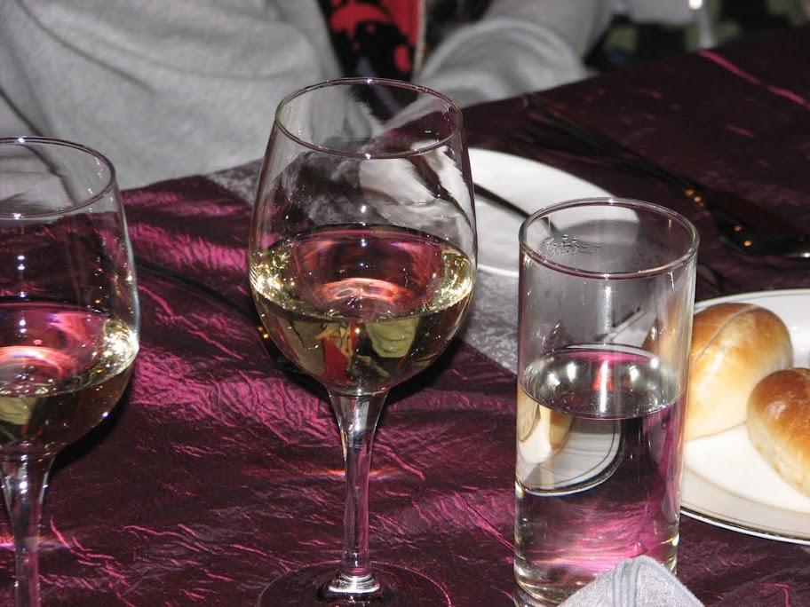 Un verre de Chardonnay.