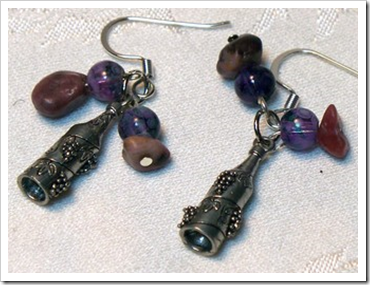 wine bottle earrings by lindab142