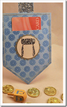 Hanukkah Dreidel Gift Card Holder