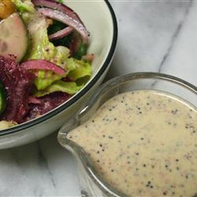 Rainbow Salad with Lemon Poppyseed Dressing
