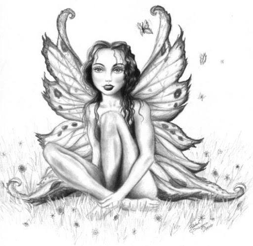 kobieta motyl, wzór tatuażu