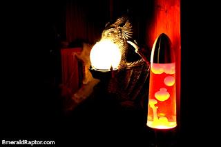 Drage og lavalampe