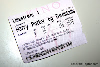 Billett til Harry Potter og Dødstalismanene - del 1