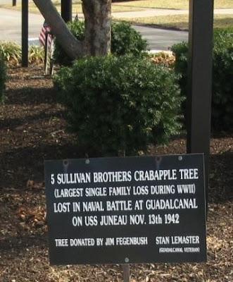 5 Sullivan Brothers crab apple tree plaque