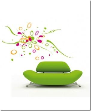 interieur design moderne les stickers muraux. Black Bedroom Furniture Sets. Home Design Ideas