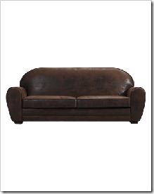 canapé aspect cuir vieilli