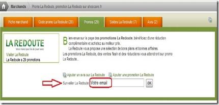 La Redoute newsletter