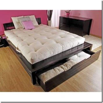 lit design avec tiroir