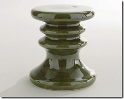 tabouret en céramique vert