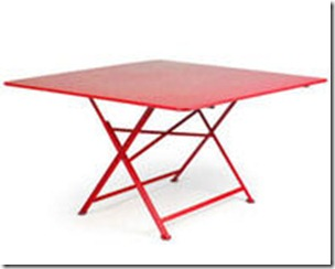 table Cargo pliante rouge