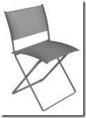 Plein Air - chaise pliante - gris