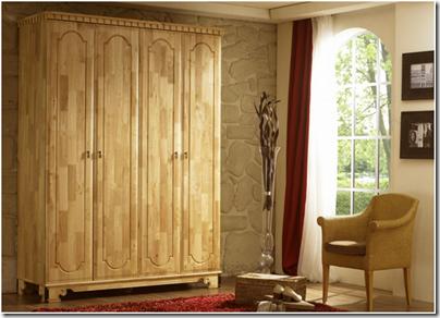 chambre bois - armoire Byzance