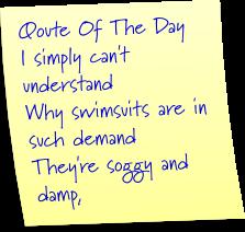 swimsuit qoute