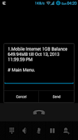 Screenshot of *GPRS# Balance Checker USSD