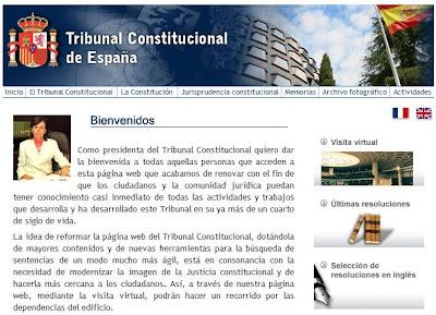 Web Tribunal Constitucional