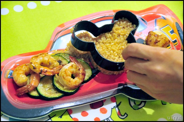 """Mickey Mouse"" Seafood Over Brown Rice"