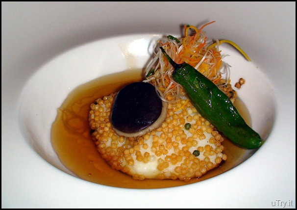 BAKED CHILEAN SEA BASS in DASHI-SOY BROTH