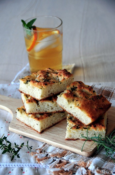 Rosemary, Thyme and Oregano Focaccia