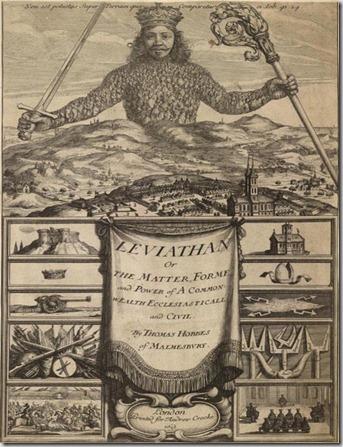 Capa do livro Leviathan de Hoobes