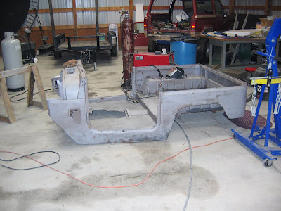Sandblasted Land Cruiser Tub
