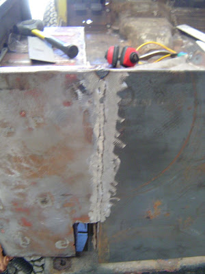 Partially Welded FJ40 Landcruiser tailgate panel