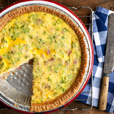 Kielbasa and Cheddar Quiche