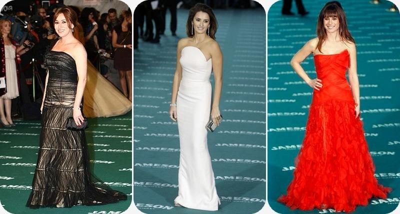 Lola Dueñas de Alberta Ferretti, Penelope de Versace Vintage, Marta Etura de Oscar de la Renta