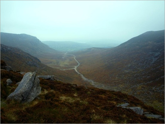 Looking down the Trassey Track