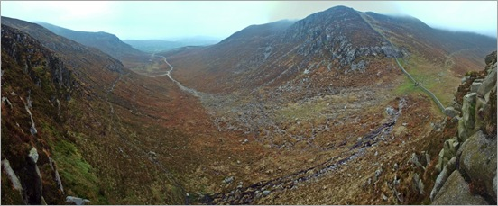 Hares Gap, Looking down the Trassey Track