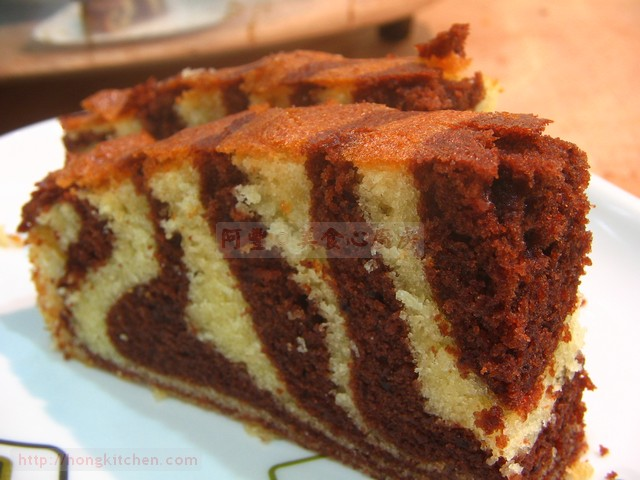Tiger Stripe Butter Cake