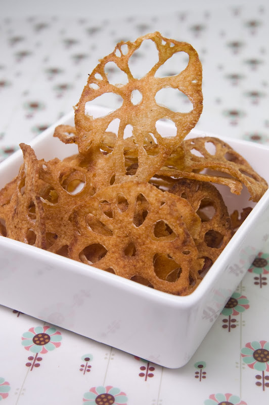 Deep Fried Lotus Root Chips