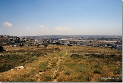 Mizpah view to south with Jerusalem airport, tbs98319800
