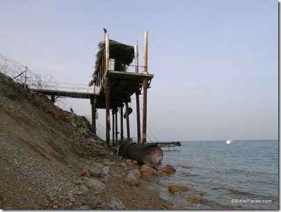 Dead Sea pier out of water, tb021905580