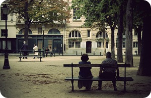 paris park bench