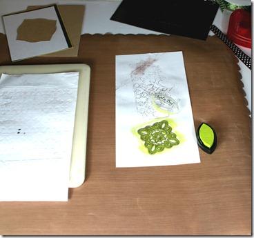 Pendant with scrap paper