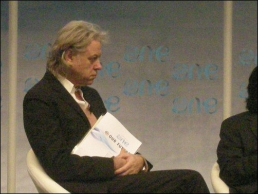 Sir Bob Geldof with the Malaysian Youth Report