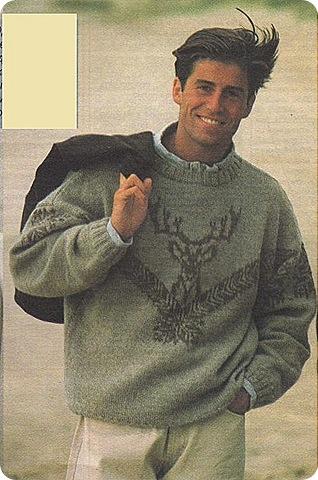 мужские свитера с оленями.