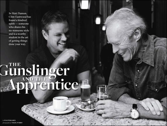 Matt Damon e Clint Eastwood