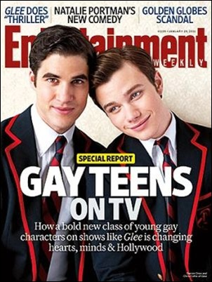 casal gay glee revista