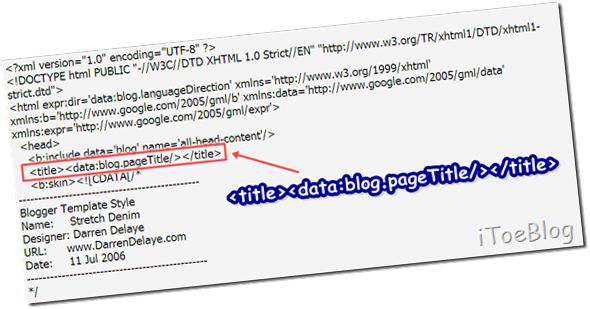 1.ปรับแต่ง Title ของ Blogger ให้ถูกหลัก SEO