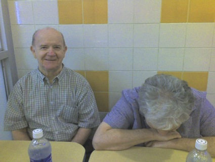 Dad and Mom at Ray's Pizza