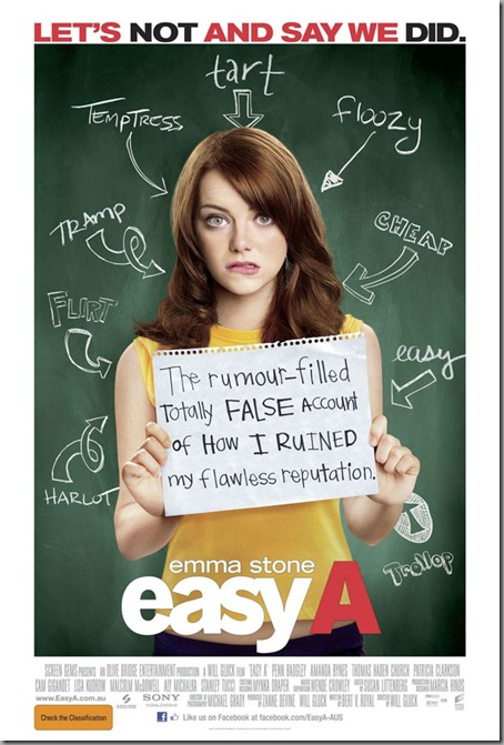 Easy A Movie Poster